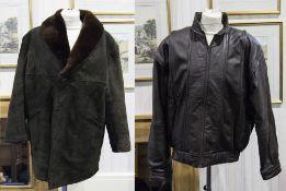 Gents Dark Brown Sheepskin Jacket with r