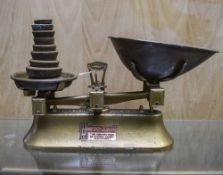 Set Of Mid 20thC Kitchen Scales Together