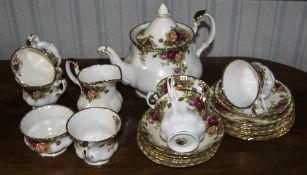 """Royal Albert """"Old Country Roses"""" Teaset."""