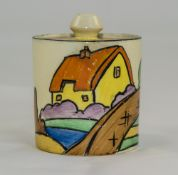 Clarice Cliff Hand Painted Small Lidded