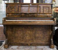 Antonie Bord Figured Walnut Upright Pian