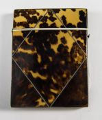 Georgian Tortoiseshell Hinged Card Case