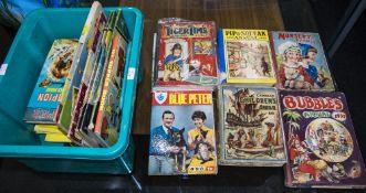 Box Of Mixed Ephemera. Children's Annual