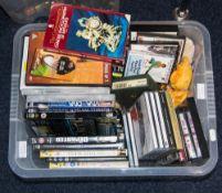 Box Of DVD's, CD's, Tapes etc