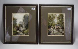 Two Larry Rushton Prints. Both Depicting
