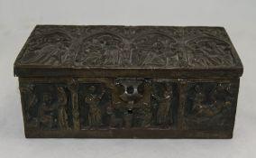 Early 20thC Gothic Style Cigar Box/Caske