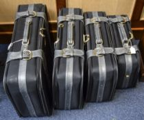 Matching Set Of 4 Modern Suitcases Carlt