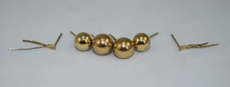 3 Pairs Of Ladies 9ct Gold Earrings. Ful