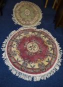 Two Modern Woolen Rugs, Floral Decoration