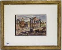 Rudolf Von Alt ( Austrian Artist ) 1812 - 1905, Titled ' The Forum Rome ' Watercolour. Signed and