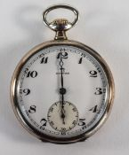 Omega - Medal Winner Silver and Gold Plated Open Faced Pocket Watch. c.1900-1910.