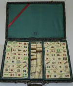 Vintage Mah Jong ''Chinese Game Of The Four Winds.'' Boxed and complete with playing instructions.