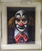 Large Larry Rushton Signed Picture. Depicting Clown Signed ''Larry Rushton'' to Lower Right. Mounted