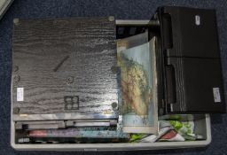 Mixed Box Comprising Vinyl LP's, Childrens Annuals, Odd Bits Of Ephemera, Modern Wall Map, Chinese