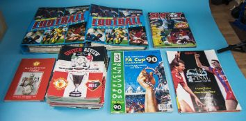 A Collection of Manchester United Programmes including Offcial Matchday Programmes etc