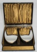 A Boxed Pair of Fine Quality Silver Backed Gents Hair Brushes. Hallmarked Birmingham 1937.