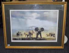 Large Limited Edition David Grant Coloured Print. ''Valley Of The Kings'' Pencil Signed to the