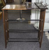 Early 20thC Mahogany Framed Shoe Rack, Marked John Watts, Together With A Wooden Framed Table Top