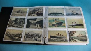 Postcard Album Containing approx 300 Early 20thC Postcards, Comprising Topographical, Humour, Comic,