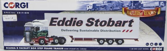 Corgi/Eddie Stobart Interest Scania R Facelift Box Step Frame Trailer CC13754