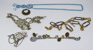 Mixed Lot Of Unusual Costume Jewellery To Include An Indian Hand Panja, Gilt Belt,