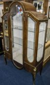 French Style Mahogany Vitrine/Cabinet Ormolu Mounted, Glass Sides And Front With Single Door, The