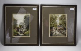 Two Larry Rushton Prints. Both Depicting Countryside Scenes. Pencil Signed to Lower Left. Mounted