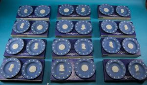 Wedgwood Full Set of Bicentennial of American Independence State Seal Series Pairs of Blue Jasper