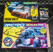 Scalextric Sport Advanced Track System, together with Micro Suer Formula track system. Both in