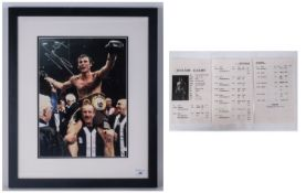 Signed Boxing Coloured Photograph of Joe Calzaghe, With Certification to the Verso. Sporting Image
