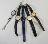 Collection Of 5 Quartz Wristwatches