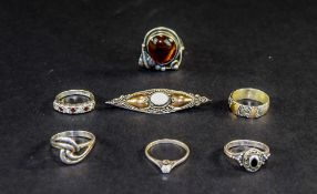Mixed Lot Of Silver Rings,