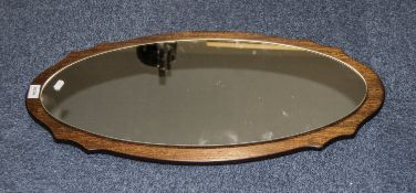 Oval Framed Modern Shaped Mirror.