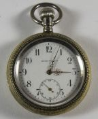 Boston Watch Co - Keyless Silver Gilt, Screw Back Large Pocket Watch. c.1853-1957. Features A