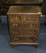 Early 20thC Chest Of Drawers, 2 Short Over 3 Long Graduating Drawers Raised On Bracket Feet,