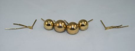 3 Pairs Of Ladies 9ct Gold Earrings. Fully Hallmarked. As New Condition.