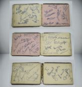 Manchester United 1950's Sporting Interest Autograph Album. Containing the Busby Bases Team