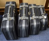 Matching Set Of 4 Modern Suitcases Carlton International