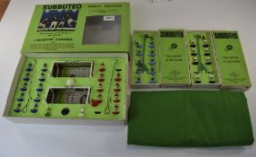 Subbuteo Set 'Continental Display' Edition In Original Box, Together With 2 Boxed Sets Of Players