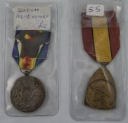 Belgium 1914-18 Victory Medal Together With A Commemorative Medal