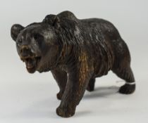 A Black Forest Carved Wooden Bear, Appro