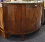 Walnut D Shaped Drinks Cabinet, Central