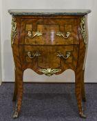 A Louis XV Style Kingwood Cross banded a