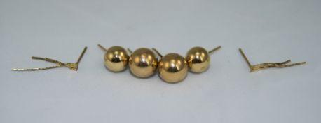 3 Pairs Of Ladies 9ct Gold Earrings. Ful