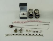 Mixed Lot Of Silver Jewellery, Comprisin