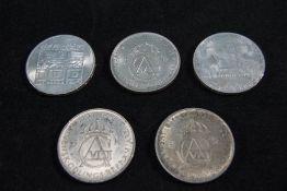 Swedish King Gustaf - Silver 5 Kroner Cr