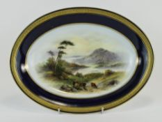 Royal Worcester Hand Painted Oval Shaped