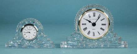 Waterford Cut Crystal Table Clock, 2.5 x