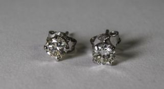 Pair Of 18ct White Gold Diamond Stud Ear