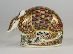 Royal Crown Derby Paperweight ' Armadill